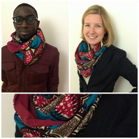 African print cotton cowl