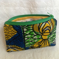 African print zipped purse