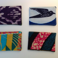 African print oyster card holders