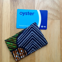 African print oyster, ID, credit card holder