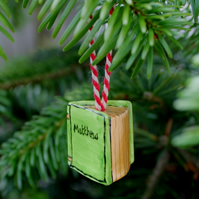Personalised Christmas ornament book Taking orders for Christmas readers gift