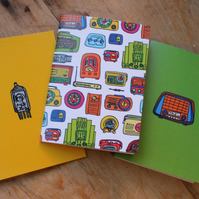Vintage radio note book set