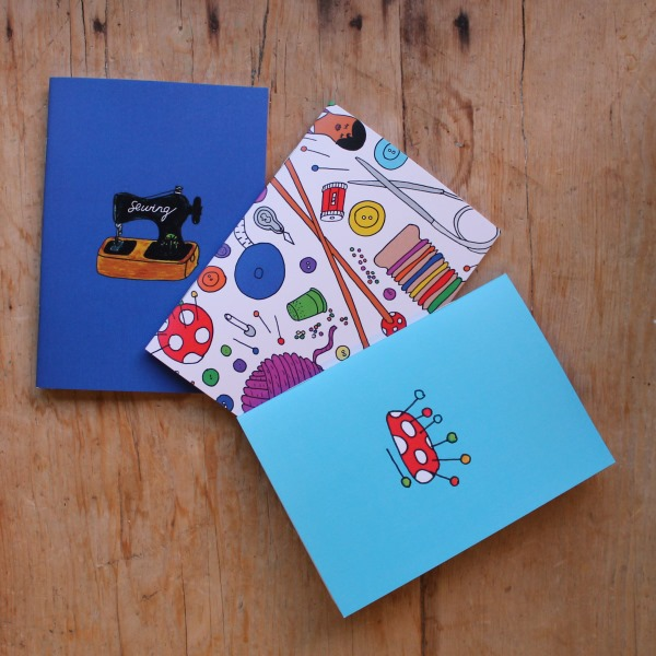 Sewing Note book set dressmakers gift set of three