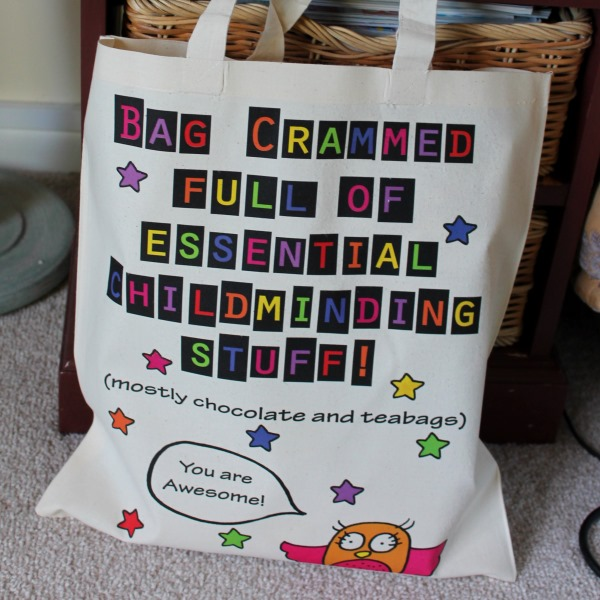 Childminding Stuff Bag Great comical gift for babysitter child minder pre-school