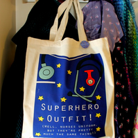 Superhero nurses uniform bag fun gift for a nurse superhero outfit