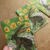 HALF PRICE Meredith & the moon hare note book set of three notebooks Mushrooms