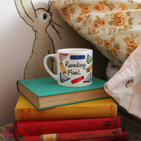 HALF PRICE SALE Small Reading Fuel mug for book lovers and budding book worms!