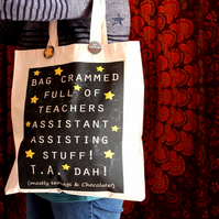 Teaching assistant tote shopper bag