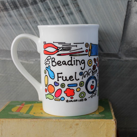 SaLe was 12.00 Beading Fuel Mug