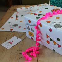 Woodlice party gift wrap