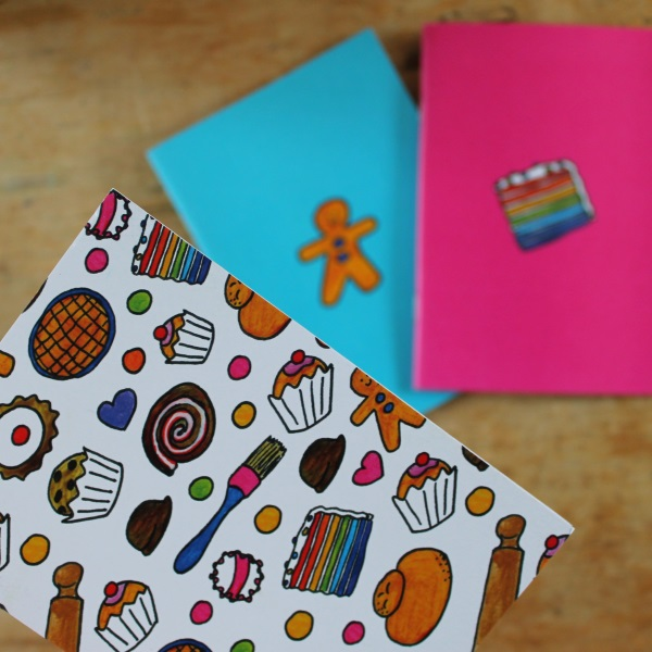 Baking note book set Set of three plain notebooks