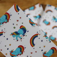 Rainbow unicorn note book