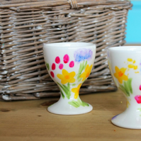 Meadow egg cup hand painted floral egg cup