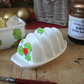 Holly toast rack hand painted green and red toast rack Christmas breakfast