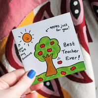 Teachers Apple mini card