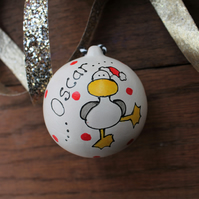 Personalised bauble fun seagull bauble dancing duck custom tree decoration
