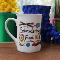 Embroidering Fuel Mug - Embroidery - Cross Stitch - Cross Stitching - Crafting