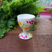 Meadow Flowers Egg Cup - Hand Painted - Fine China - Floral