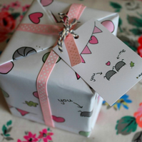 Cyril & Myrtle Gift Wrap Pack - Love Bug - Valentine's - Woodlice - Pill Bugs