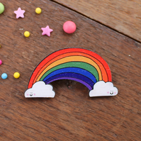 Rainbow Brooch - Pin Badge - Jewellery - Gift For Grandparent