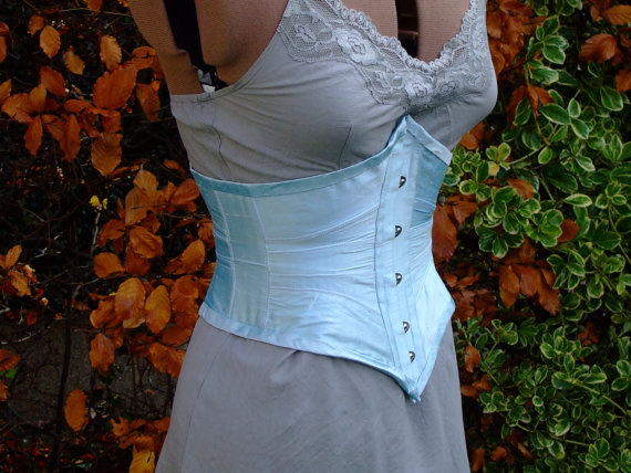Custom silk riding corset
