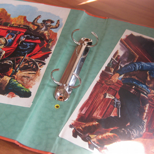 Wild West Ring Binder. Recycled Book.