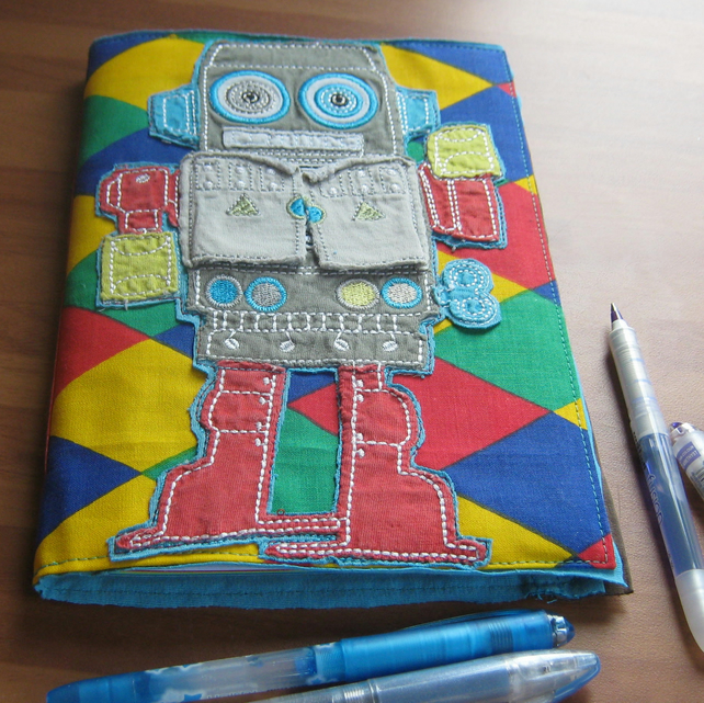 Robot Handmade Journal Notebook
