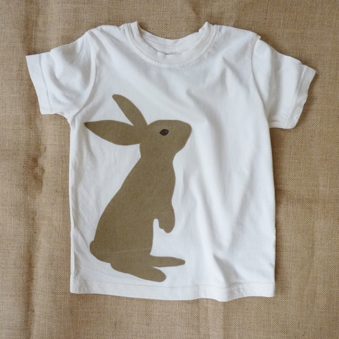 Chocolate Bunny t-shirt 100% Organic cotton. Age 3m - 7T FREE SHIPPING