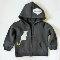 Hoodie : My Pet Mouse Age 3-6 m SALE
