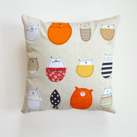 Cat Pillow Cover : Stella And Friends Cushion Cover
