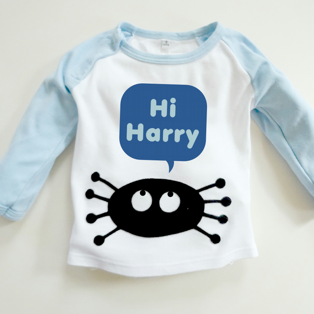 Incy Wincy Spider : Organic Personalised Halloween Top