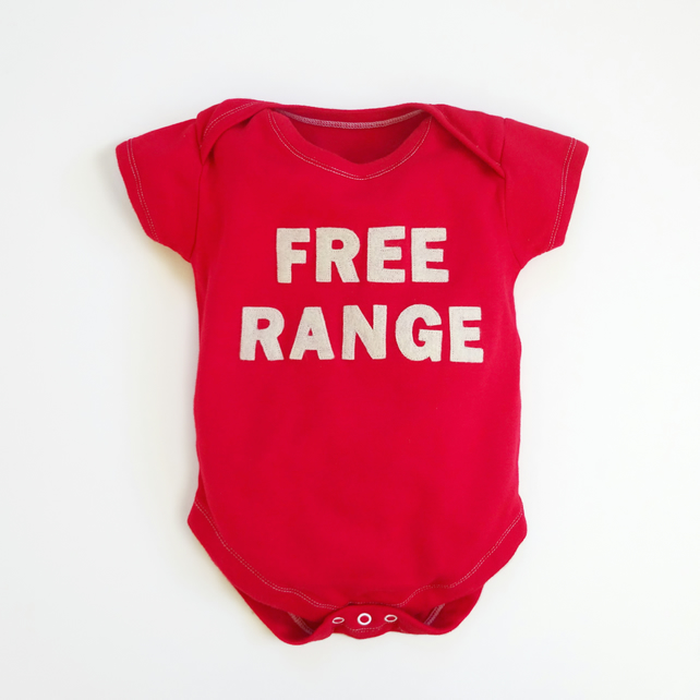 Baby Bodysuit  FREE RANGE : Large Selection Of Sizes Available