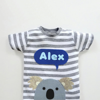 Baby Koala Personalised T-Shirt : Baby Shower Gift, Baby Boy