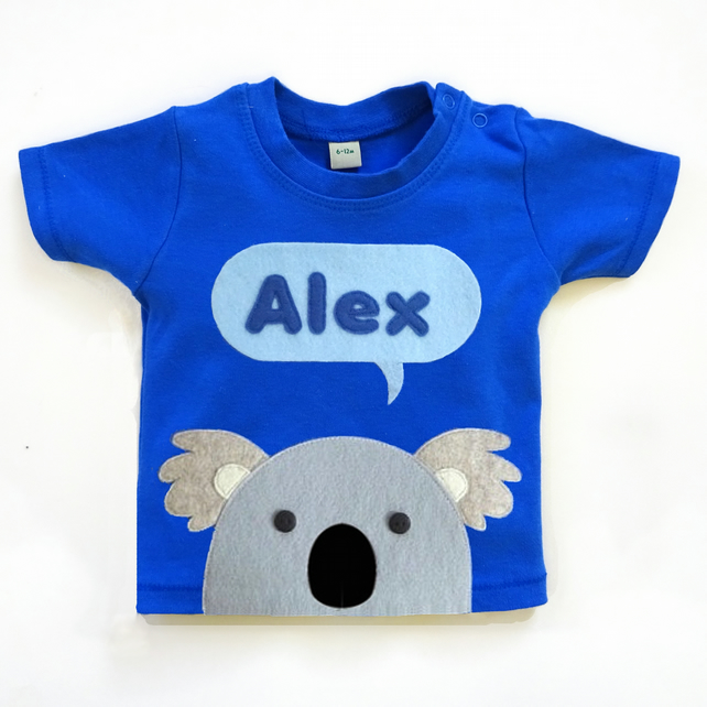 Personalised Baby Koala T-Shirt : 3 Months To 6 Years