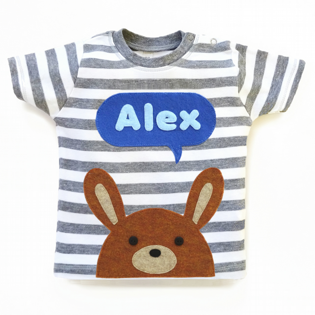 Baby Bunny Personalised T-Shirt : 3 months up to 24 months, Baby Boy