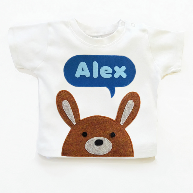 Organic Baby Bunny T-Shirt : 3-6 months, 6-12 months, Organic Baby Top