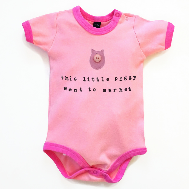 This Little Piggy Bodysuit : Baby Girl, Baby Girl Shower
