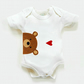 Teddy Bear Organic Bodysuit, New Baby Gift, Baby Shower
