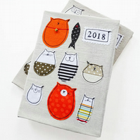 2018 Cat Diary : Week To View Diary ,  Cat Lover Gift, Lovely Stella Diary