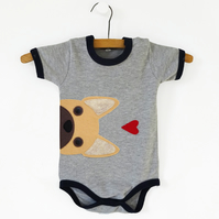 French Bulldog Baby Bodysuit : French Bulldog Baby Gift