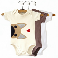 Organic Frenchie Baby Bodysuit : Frenchie Baby Shower, French Bulldog Baby Gift