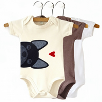 Organic French Bulldog Baby Bodysuit : Frenchie Baby Shower, Frenchie Baby Gift