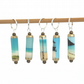 Seaside knitting stitchmarkers, set of 5 handmade paper bead knit markers