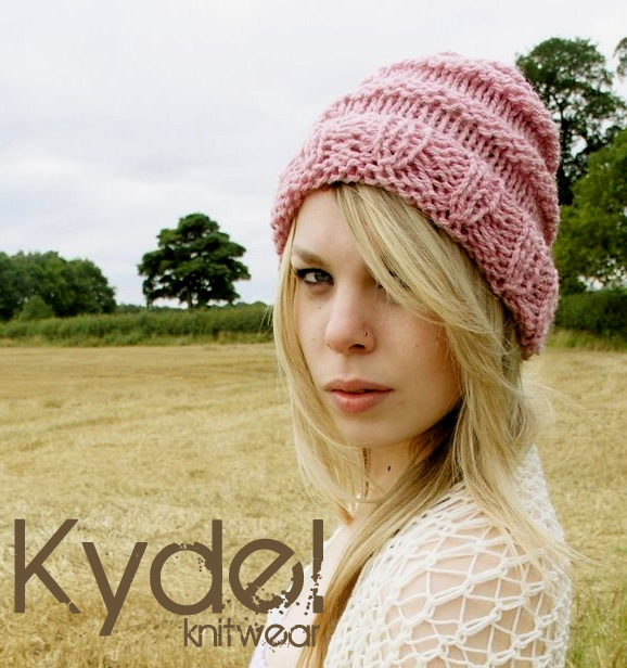 Hat Slouchy Beanie Hand Knit Pink Womens Slouched Big Large Winter Accessories