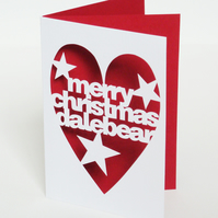 Papercut Personalised Christmas Card - Hand Cut To Order