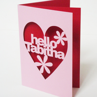 Personalised Hand Cut Any Occasion Greetings Card