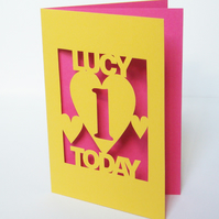 Hand Cut Personalised Card For Any Occasion