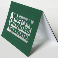 Papercut Merry Christmas Handsome Greetings Card