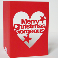 Papercut Merry Christmas Gorgeous Greetings Card