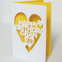 Hand Cut Personalised Birthday Card
